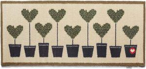 HUG RUG - tapis en fibres naturelles motif coeurs 65x150 cm  - Paillasson