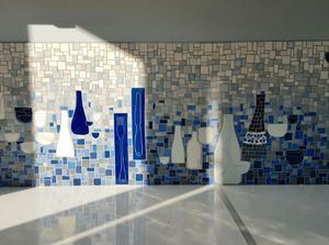 ANIS ET CÉLADON - Delphine Lescuyer -  - Carrelage Mosaïque Mural