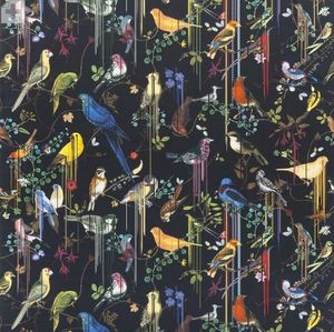 CHRISTIAN LACROIX FOR DESIGNERS GUILD - birds sinfonia crepuscule - Tissu D'ameublement