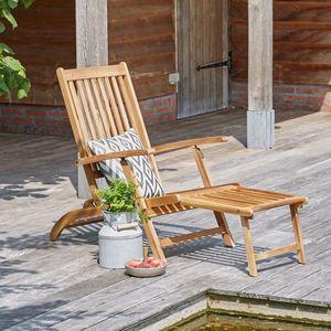 BOIS DESSUS BOIS DESSOUS - steamer en bois d'acacia fsc - Chaise Longue De Jardin