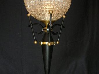 Metal D'alcove Eric Katz - le bilboquet de verre - Lampe À Poser