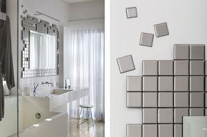 +OBJECT - tetris mirror silver - Miroir De Salle De Bains
