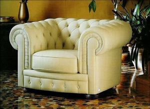 Techni Salons -  - Fauteuil Chesterfield