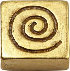 L'AGAPE - bouton de tiroir spirale or - Bouton De Tiroir