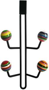 L'AGAPE - patère 4 boules rayées top de porte - Patère