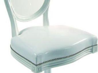 Etc Creations - chaise cul de jatte blanche - Chaise Médaillon