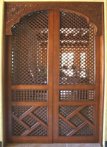 Artiwood Maroc - porte d'entrée en cèdre massif - Porte Ancienne