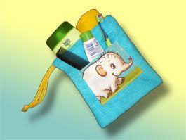 CréaFlo - trousse de toilette éponge de voyage - Trousse De Toilette Enfant