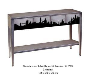 BATEL - motif london - Console � Tiroir