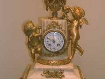 ANTIQUIT�S 95 - garniture de chemin�e - Horloge � Poser