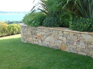 HMT - moellons de quartzite - Parement Mural Extérieur