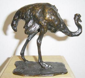 Galerie P. Dumonteil - autruche - Sculpture Animalière