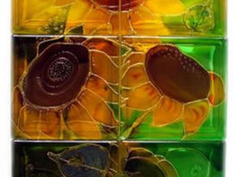 Painted glass blocks -  - Pavé De Verre