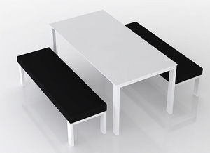 swanky design - lix dining set with benches - Salon De Jardin