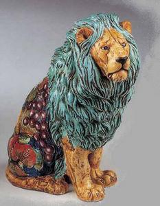 Pugi Ceramiche - lion - Sculpture Animalière