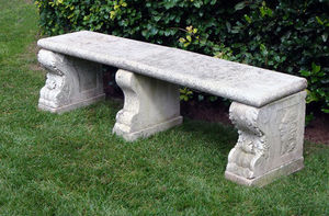 BARBARA ISRAEL GARDEN ANTIQUES - english marble bench - Banc De Jardin
