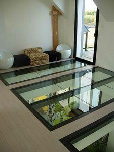 Metal Design - plancher verre quadra - Plancher En Verre