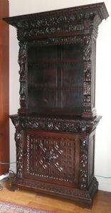 Antiquités LORMAYE - renaissance cabinet-bookcase - Cabinet
