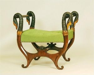 ANTOINE CHENEVIERE FINE ARTS - wood stools - Tabouret En X