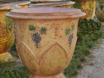 PLANTERS-CONTACT-PROVENCE - vase geant barroque polychrome  ø 100cm, h100c - Bac À Arbre