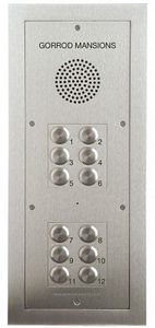 Nacd - tvtel 12 push-button flush-flanged panel - Interphone