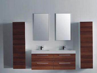 UsiRama.com - meuble salle de bain double vasques tronce 1.3m - Meuble Double Vasque