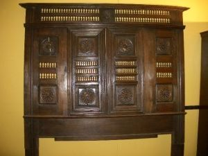 Antiquités Anne & Thierry - façade de lit breton en chêne. - Lit Clos