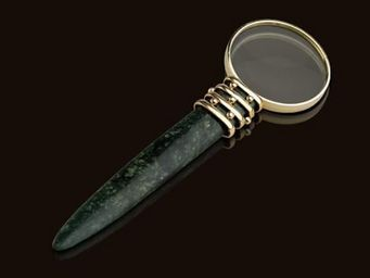 L'OBJET - african jade desk accessories - Loupe