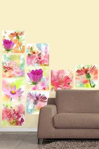 DECLIK - fleurs mirage - Papier Peint Adhésif Repositionnable