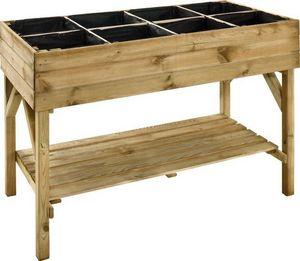 JARDIPOLYS - potager surélevé 8 carrés en pin naturel - Table De Rempotage
