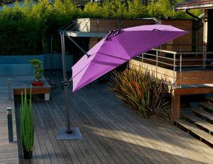 PROLOISIRS - parasol déporté cassis 3x3m - Parasol Excentré