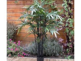 Deco Factory - bambou artificiel noir pekin en pot - Arbre Artificiel