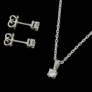 Expertissim - parure en or blanc et diamants - Parure De Bijoux