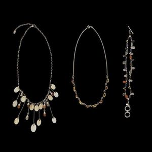 Expertissim - ensemble de bijoux : deux colliers et un bracelet - Collier
