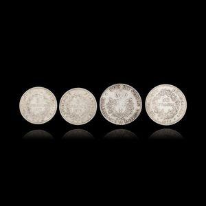 Expertissim - quatre pièces en argent - Piece De Monnaie