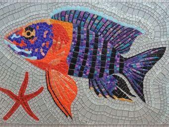 Atelier Andamento Mosaique - poisson et �toile de mer - Carrelage De Piscine