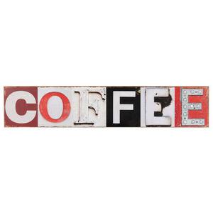 Maisons du monde - plaque bois coffee - Lettre Décorative