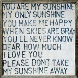 Sugarboo Designs - art print - you are my sunshine - Tableau D�coratif