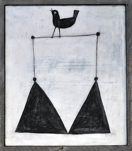 Sugarboo Designs - art print - bird on a wire - Tableau D�coratif