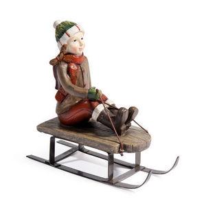 Maisons du monde - fillette luge mégève - Figurine