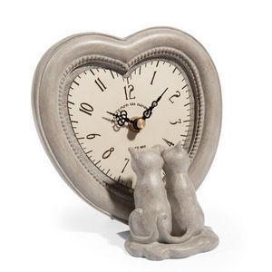Maisons du monde - horloge lovely cats - Horloge À Poser