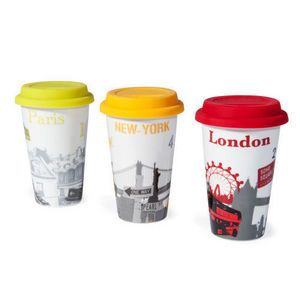 Maisons du monde - assortiment de 6 mugs to go cities - Mug