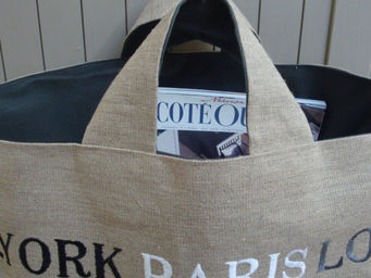 L'atelier D'anne - sac personnalisable en toile de lin - Cabas