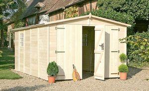 Chalet & Jardin - garage 14,85m� en bois panneaux 19mm - Abri De Jardin Bois