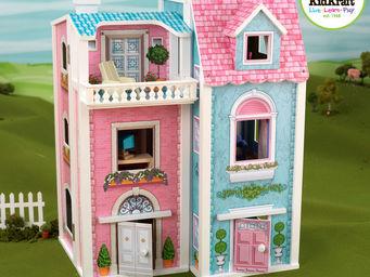 KidKraft - maison de poup�es heure du th� en bois 49x40x63cm - Jouets De Poup�e