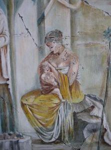 SYLVIE MAILHÉ POURSINES - romaine - Fresque