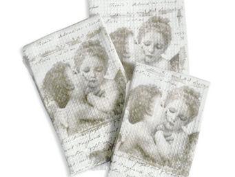 Mathilde M - serviette de bain anges amoureux - Serviette De Toilette