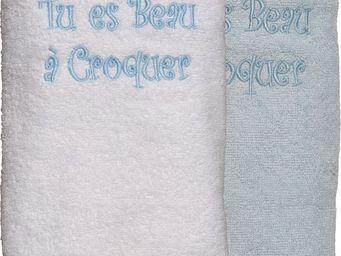 SIRETEX - SENSEI - carré 100x100cm éponge brodée beau a croquer - Serviette De Toilette Enfant