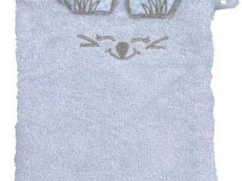 SIRETEX - SENSEI - gant de toilette enfant en forme de souris ciel - Gant De Toilette