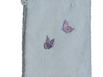 SIRETEX - SENSEI - gant eponge brodé butterfly coton - Gant De Toilette